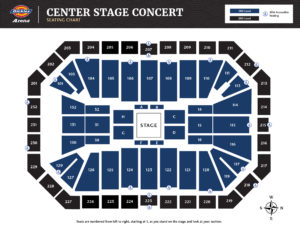 Center Stage Seating Chart