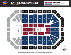 End Stage Concert Seating Chart