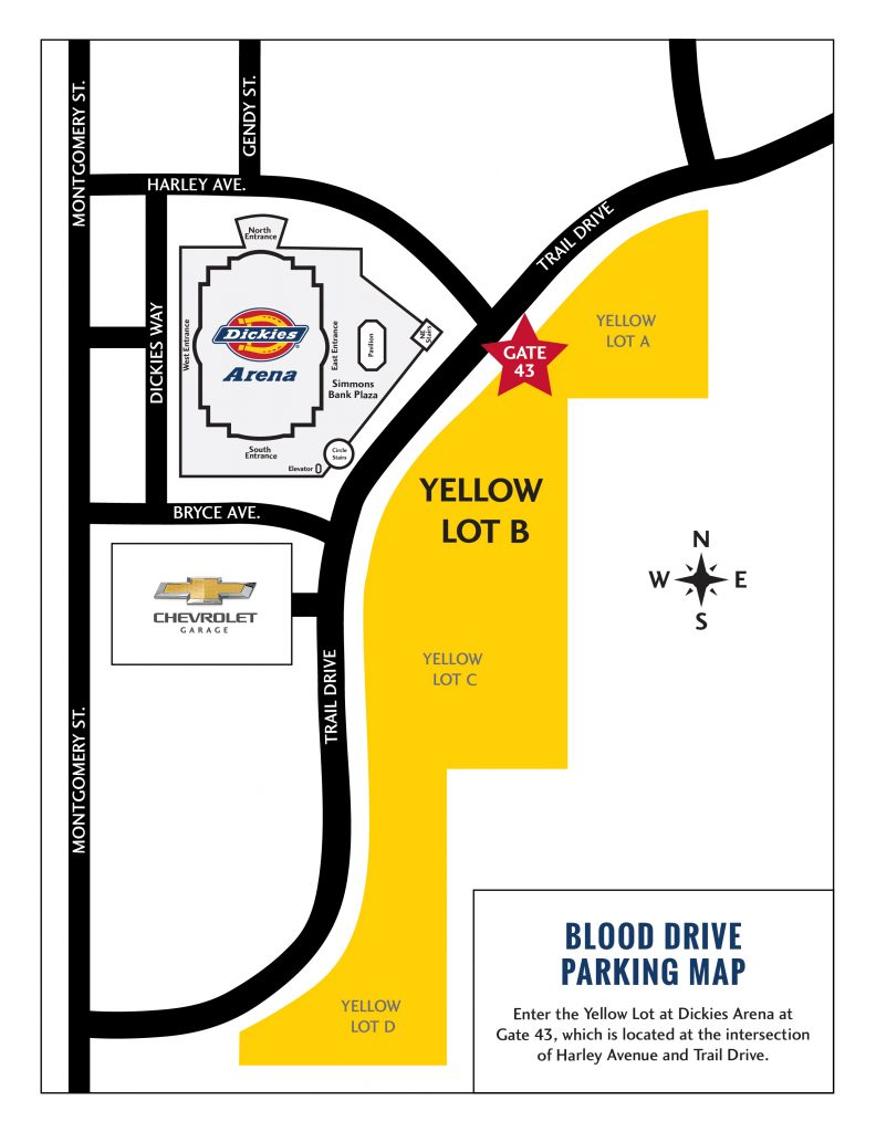 Directions to Yellow Lot B